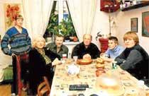 Лев Дуров в кругу семьи